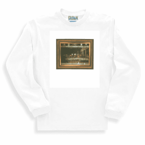 Christian long sleeve t-shirt or sweatshirt Lord's supper Jesus portrait