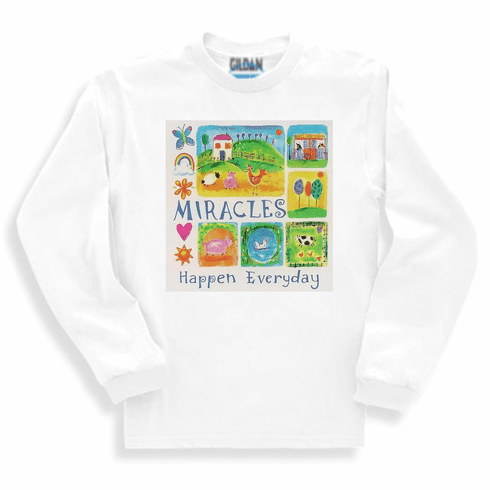 Christian long sleeve t-shirt or sweatshirt Miracles happen everyday