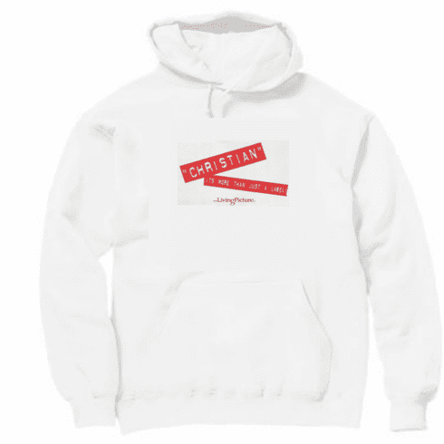 christian pullover hooded hoodie sweatshirt Christian it's more than just a label