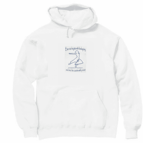 Christian pullover hooded hoodie sweatshirt Enter into his gates thanksgiving courts praise