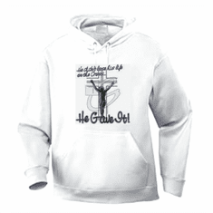 Christian pullover hooded hoodie sweatshirt:  Jesus didn't LOSE His life on the cross He GAVE it.