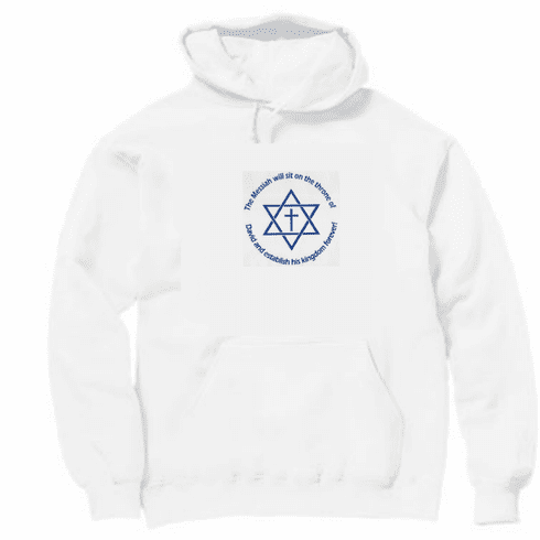 Christian pullover hooded hoodie sweatshirt Jesus the messiah will sit on the throne of David
