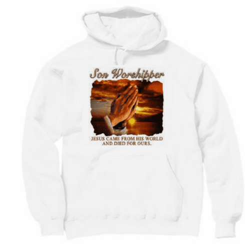 Christian Pullover Hooded Hoodie Sweatshirt Son Worshiper Jesus died for our sins
