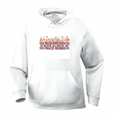Christian pullover hooded hoodie sweatshirt the Task ahead of us is never as great as the power within us. God Jesus