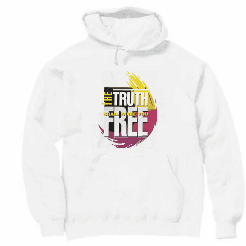 christian pullover hooded hoodie sweatshirt the truth shall make you free