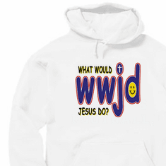 Christian pullover hooded hoodie sweatshirt What would Jesus Do WWJD