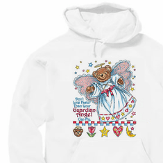 Christian pullover hoodie sweatshirt: Don't live faster than your guardian angel can fly
