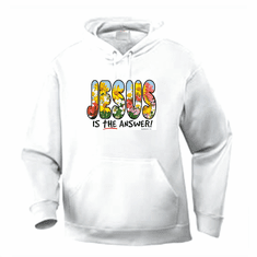 Christian pullover hoodie sweatshirt: JESUS is the answer!