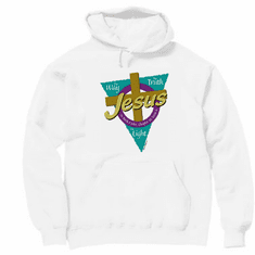 Christian pullover hoodie sweatshirt: JESUS the way the truth the LIGHT