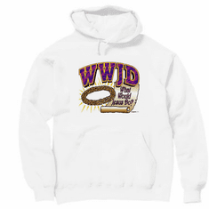 Christian pullover hoodie sweatshirt: WWJD What Would Jesus Do?