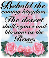 Christian shirt: Behold the coming kingdom.. The desert shall rejoice and...