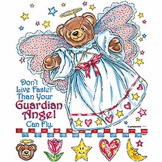 Christian Shirt:  Don't live faster than your guardian angel can fly