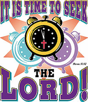 Christian shirt:  It's time to seek the LORD!