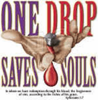Christian shirt One Drop saves souls Jesus blood cross
