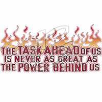 Christian Shirt the Task ahead of us is never as great as the power within us.  God Jesus