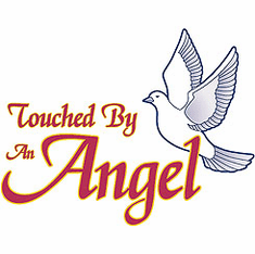 Christian shirt:  Touched by an angel