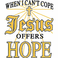 Christian shirt:  When I can't cope Jesus offers hope.