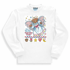 Christian sweatshirt or long sleeve shirt:  Don't live faster than your guardian angel can fly