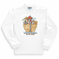 Christian sweatshirt or long sleeve T-shirt NOAHS ARK 40 days 40 nights are you sure