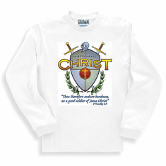 Christian sweatshirt or long sleeve T-shirt:  Soldiers of CHRIST