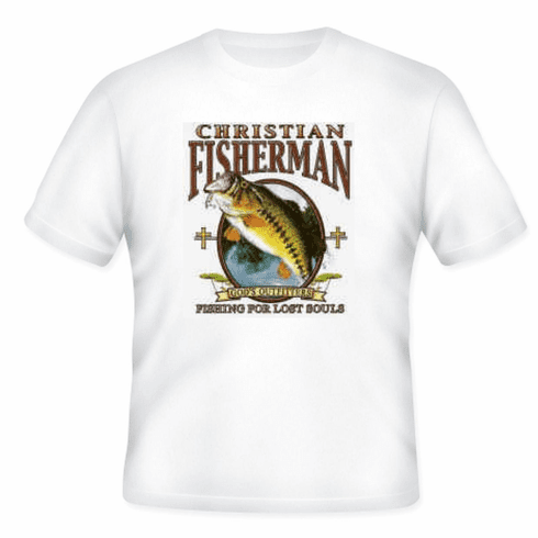 Christian t-shirt Christian Fisherman fishing for souls God's outfitters