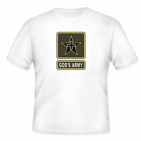 Christian T-shirt God's Army