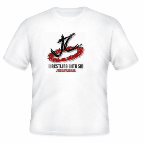 Christian T-shirt JC WRESTLING WITH SIN