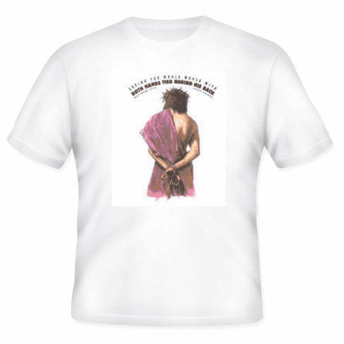 Christian T-shirt Jesus saved the world with both hands tied behind His back