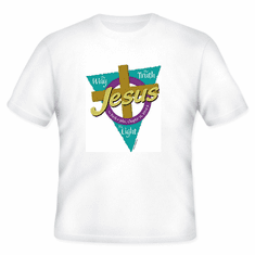 Christian T-Shirt:  JESUS the way the truth the LIGHT