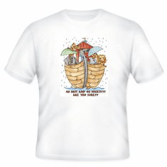 Christian T-shirt NOAHS ARK 40 days 40 nights are you sure