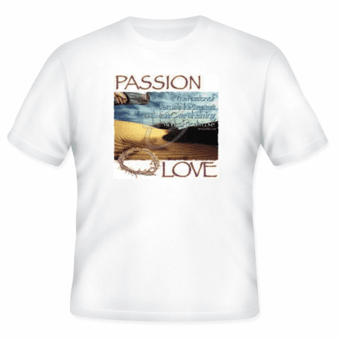 Christian T-shirt The PASSION of Jesus God's work of love