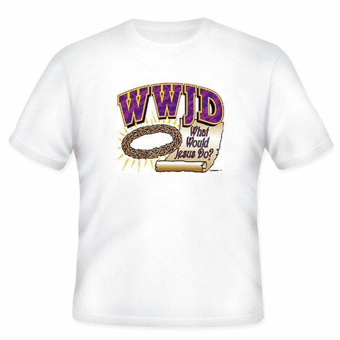 Christian T-Shirt:  WWJD  What Would Jesus Do?