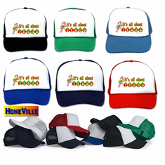 christmas hat ball cap:  IT'S ALL ABOUT JESUS