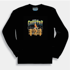 Country and Western long sleeve T-shirt or sweatshirt: Keep it country