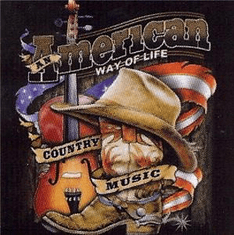 Country and Western music american way of life shirts
