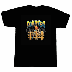 Country and Western T-shirt and pocket shirt: Keep it country