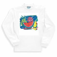 Country Decorated tropical fruit fruits long sleeve tshirt sweatshirt