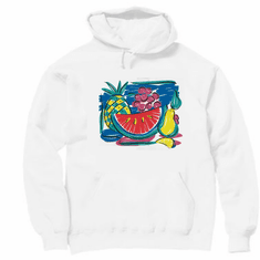 Country Decorated tropical fruit fruits pullover hoodie hooded sweatshirt