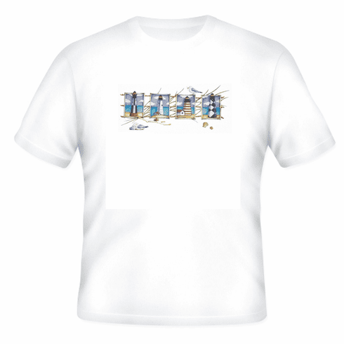 Country Decorative 4 four Lighthouse birds tshirt shirt