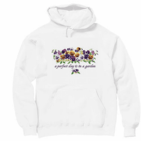 Country Decorative A perfect day is in the garden pullover hoodie hooded sweatshirt