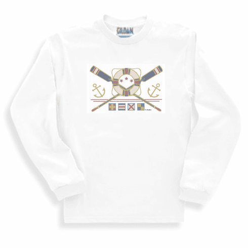 Country Decorative Anchors life preserver oars long sleeve tshirt sweatshirt