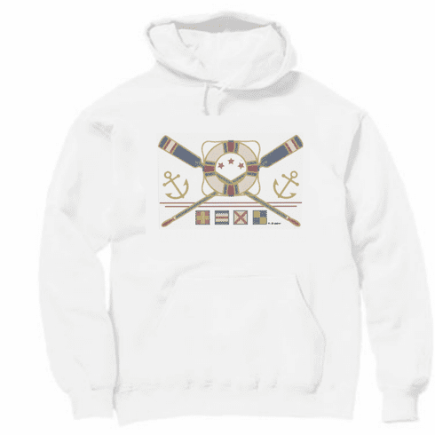 Country Decorative Anchors life preserver oars pullover hoodie hooded sweatshirt