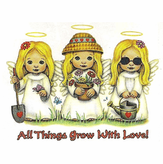 Country Decorative Angels All things grow with love tshirt shirt
