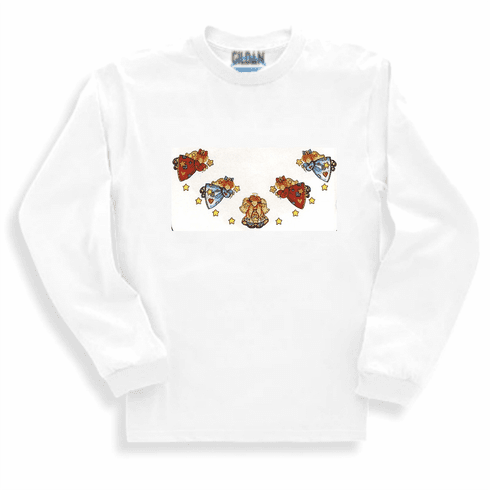 Country Decorative Angels long sleeve tshirt sweatshirt