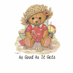 Country Decorative As good as it gets teddy bear tshirt shirt