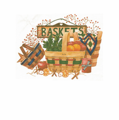 Country Decorative baskets basket tshirt shirt