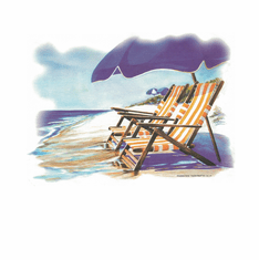 Country Decorative beach chairs ocean view tshirt shirt