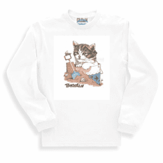Country Decorative Beach scene Beachin' cat long sleeve tshirt sweatshirt