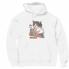 Country Decorative Beach scene Beachin' cat pullover hoodie hooded sweatshirt