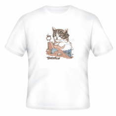 Country Decorative Beach scene Beachin' cat tshirt shirt
